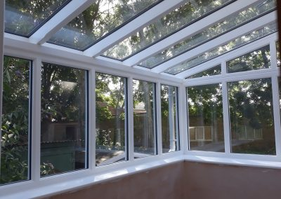 a white timber conservatory