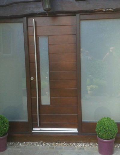 moden brown timber front door
