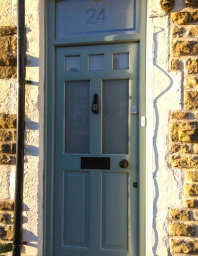 green timber front door