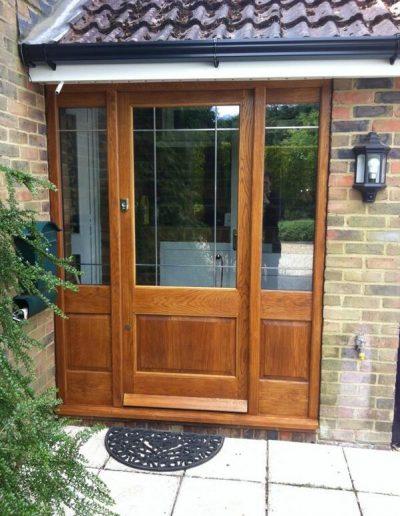 brown timber front door