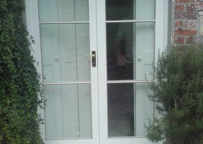 White paired doors