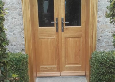 timber paired doors