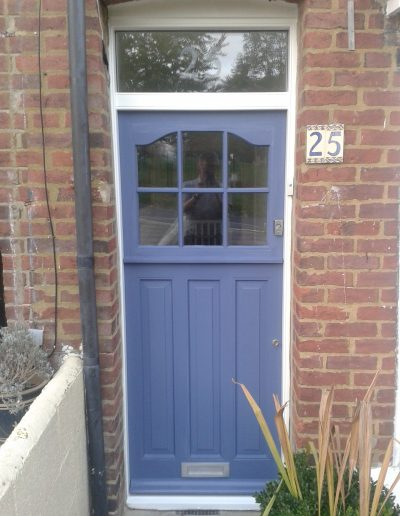 Blue stable door