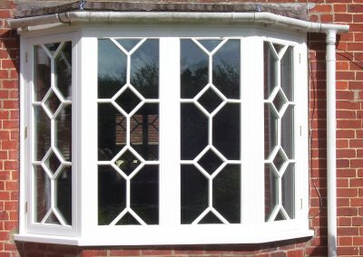 bay window with decorative tracery bars