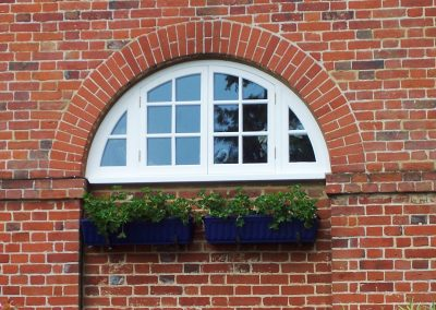 curved timber window