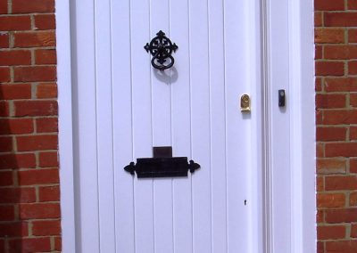 traditional timber front door