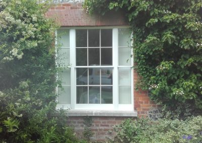 slim double glazed sash window
