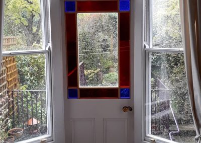 stained glass back door