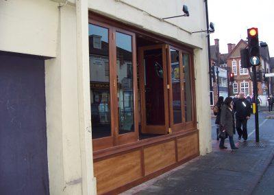 stained bifold door