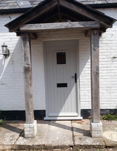 front door with viewing panel