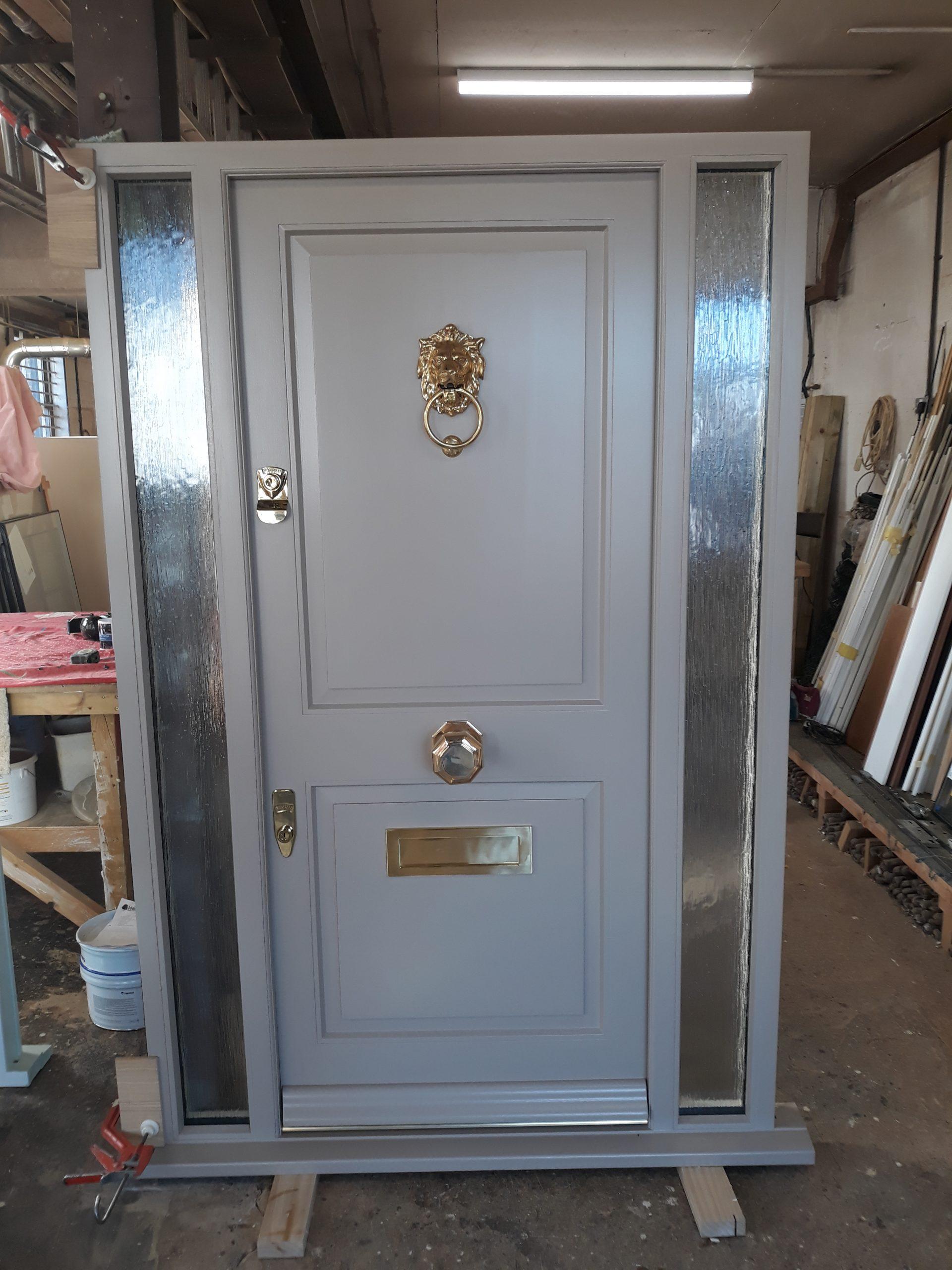Front door with sidelights